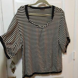 BCBG MAX AZRIA silk short sleeve sweater